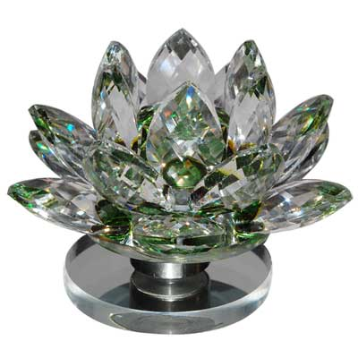Crystal Lotus Flower - Green -340-002