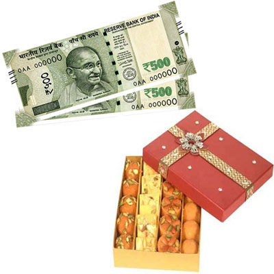 Cash - Rs. 1001 , 500gms of Assorted sweets