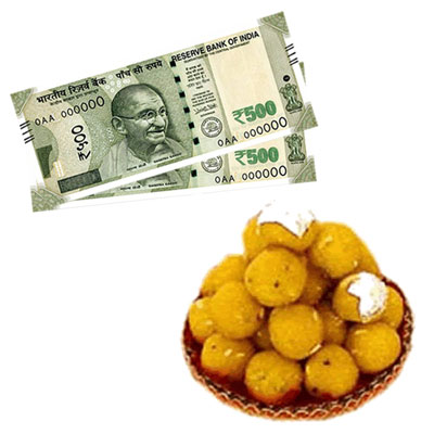 Click here for more on Cash - Rs. 1001 , 500gms of Laddu sweet