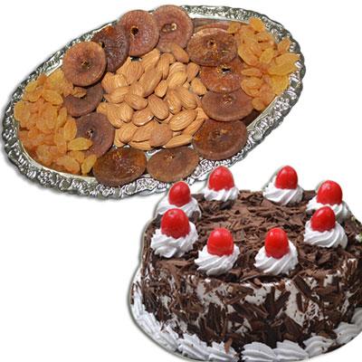 Click here for more on Badam100 gms, Anjeer100 gms, Kismis 100 gms , Black forest Cake