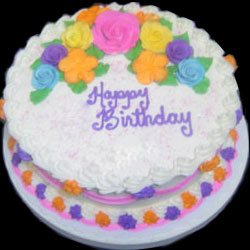 Click here for more on Cute floral cake