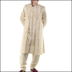 Click here for more on Pure silk Designer kurta Set