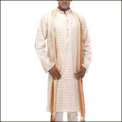 Click here for more on kurta churidar set - Cream Colour
