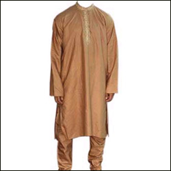 Click here for more on Silk Kurta Pyjama - Brown