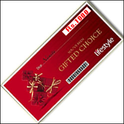 Click here for more on Life Style Gift Cheque for Rs. 1000/-