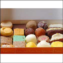 Click here for more on Krishna sweets - Assorted sweets 1kg