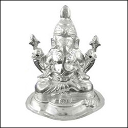 Click here for more on'GANESH SILVER IDOL -JPG014 20gms'