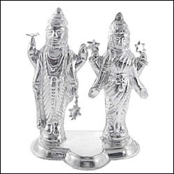Click here for more on'LAXMI-NARYAN SILVER IDOL -SJSID03'