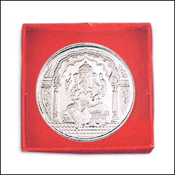 Click here for more on'Shri Ganesh Silver Coin - p02071'