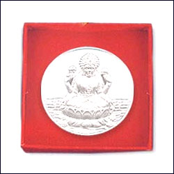 Click here for more on'Shri Lakshmi Silver Coin - p02072'