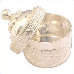 Silver Sindhoor Box - p02077