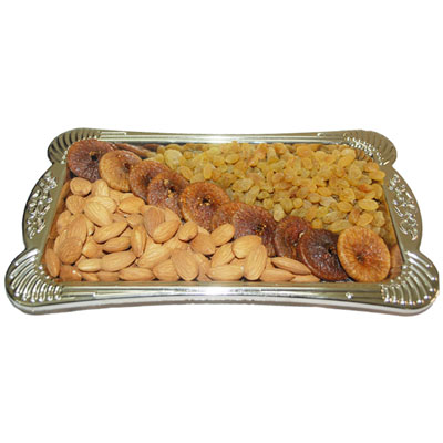 Click here for more on Dryfruit Thali - Code DT05