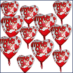 Heart Shape Foil Balloons (21 No)