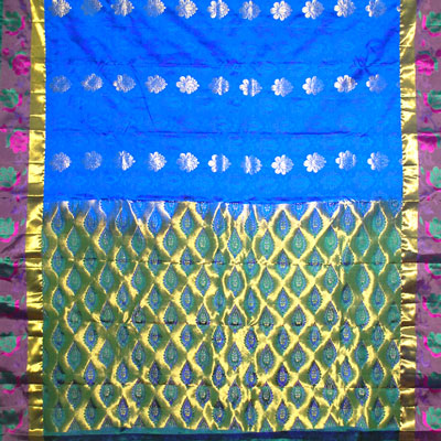 Click here for more on Royalblue color kanchi fancy silk saree NSM-34(with Blouse) (Express Delivery)