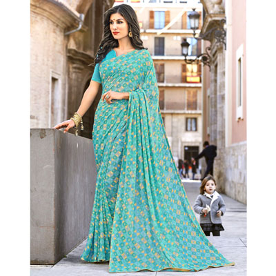 Click here for more on Fancy Georgette Saree SEY-21 (Express Delivery)