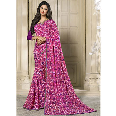 Click here for more on Fancy Georgette Saree SEY-60 ( Kanchan-2782) (Express Delivery)